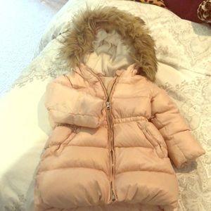 Euc pink puffer coat
